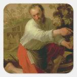 Viticultor, 1628 calcomania cuadradas