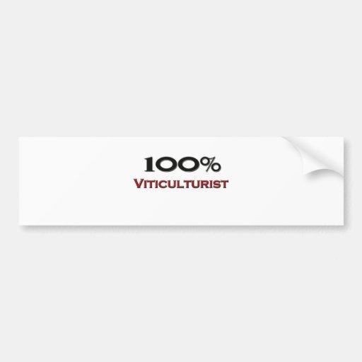 Viticultor del 100 por ciento etiqueta de parachoque