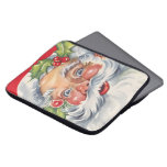 Vitnage Christmas, Jolly Santa Claus with His Hat Laptop Sleeves