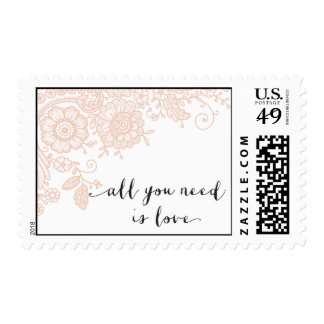 Vitnage Lace - Save the Date - All You Need is Lov Postage