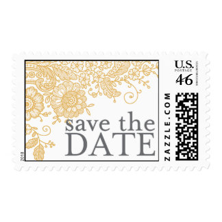 Vitnage Lace - Save the Date Postage Stamp