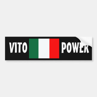 """VITO POWER"" Bumper Sticker Car Bumper Sticker"