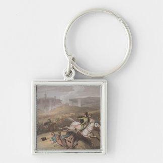 Vitoria, 21st June 1813, from 'The Victories of th Silver-Colored Square Keychain
