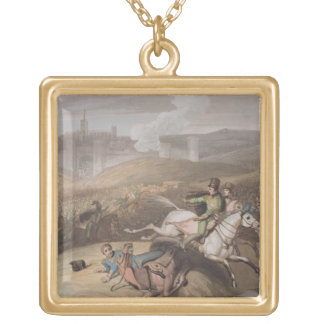 Vitoria, 21st June 1813, from 'The Victories of th Square Pendant Necklace