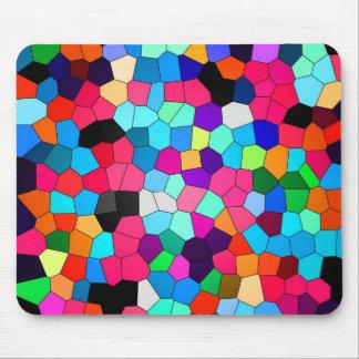 Vitral abstracto del confeti alfombrilla de ratones