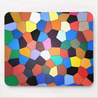 Vitral abstracto del confeti tapete de ratón