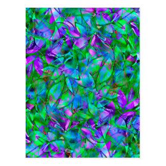 Vitral abstracto floral de la postal