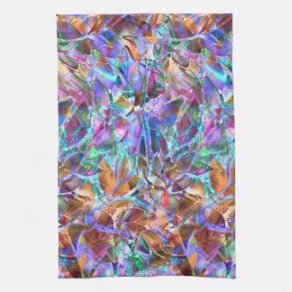 Vitral abstracto floral de la toalla