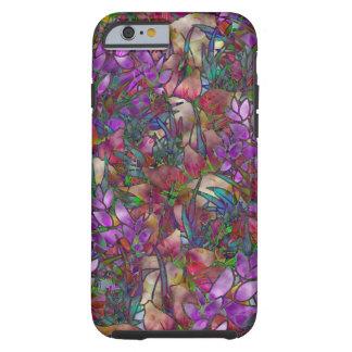 vitral abstracto floral de Shell del caso del Funda De iPhone 6 Tough