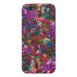 vitral abstracto floral del caso del iPhone 5/5S iPhone 5 Protectores