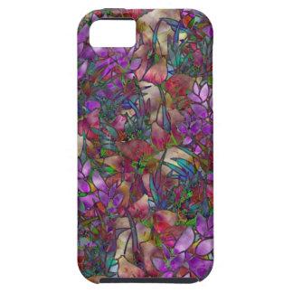 vitral abstracto floral del caso del iPhone 5 iPhone 5 Carcasas