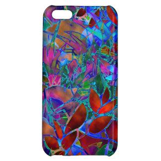 vitral abstracto floral del caso del iPhone 5C