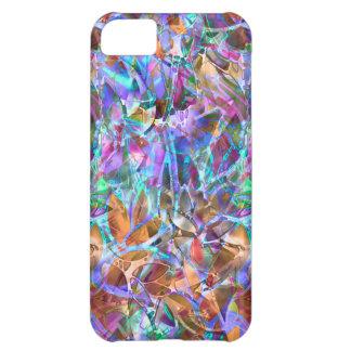vitral abstracto floral del caso del iPhone 5C Carcasa iPhone 5C