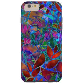 vitral abstracto floral del caso más del iPhone 6 Funda Resistente iPhone 6 Plus