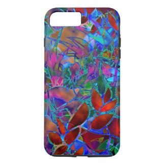 vitral abstracto floral del caso más del iPhone 7 Funda iPhone 7 Plus
