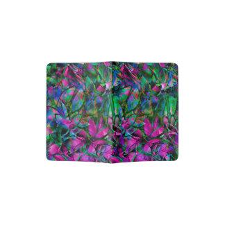 Vitral abstracto floral del tenedor del pasaporte porta pasaportes