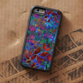 vitral abstracto floral duro del caso del iPhone 6 Funda Tough Xtreme iPhone 6