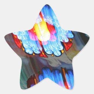 Vitral, Berna Munster, Suiza Pegatina Forma De Estrella Personalizadas