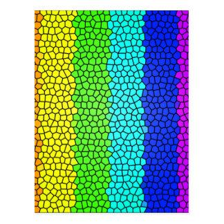 Vitral coloreado arco iris (horizontal) tarjeta postal