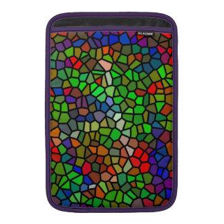 Vitral colorido de moda funda para macbook air