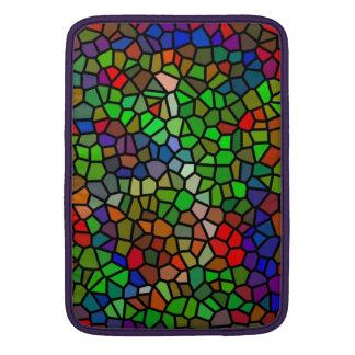 Vitral colorido de moda fundas macbook air