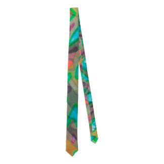 Vitral colorido del lazo corbata fina