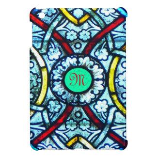 Vitral con monograma de Notre Dame iPad Mini Cárcasas