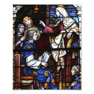 Vitral de la catedral de St. Louis Fotografía
