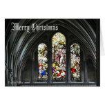 Vitral de la catedral - tarjeta de Navidad