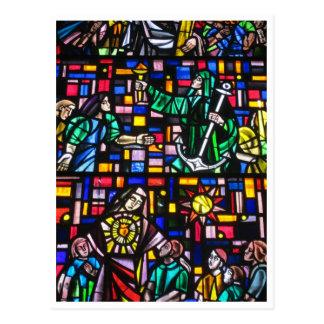 vitral de la catedral tarjeta postal