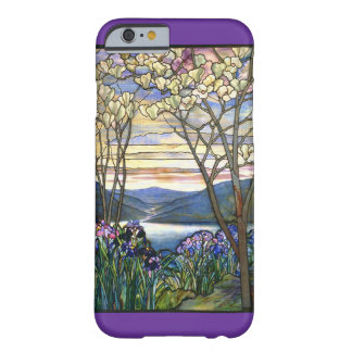 Vitral de la magnolia y del iris funda de iPhone 6 barely there