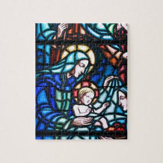 Vitral de la natividad puzzles con fotos