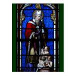 Vitral de las bendiciones de Nicholas del santo Tarjetas Postales