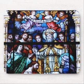 Vitral de St Augustine Alfombrillas De Ratones