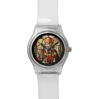Vitral de St Patrick Reloj