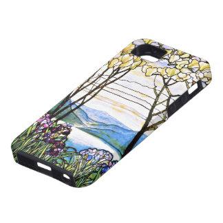 Vitral de Tiffany del paisaje de Idellic iPhone 5 Protectores