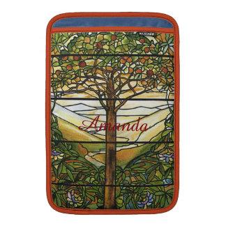 Vitral de Tiffany del vintage personalizado Funda Para Macbook Air
