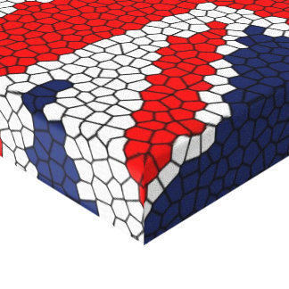 Vitral de Union Jack - Reino Unido Impresion De Lienzo