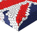 Vitral de Union Jack - Reino Unido Impresiones En Lona Estiradas