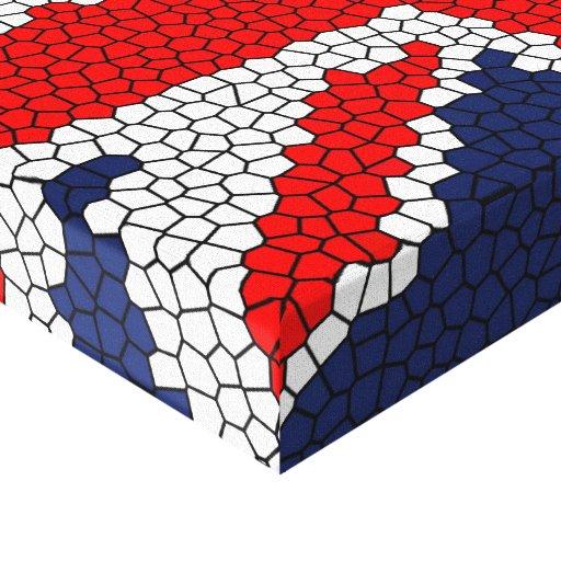 Vitral de Union Jack - Reino Unido Impresion En Lona