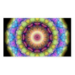 Vitral del arco iris tarjeta personal