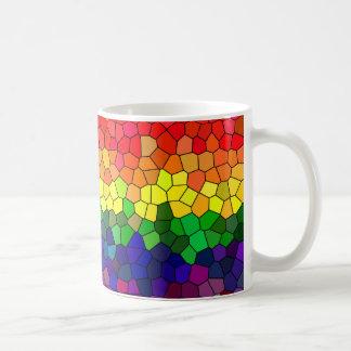Vitral del arco iris taza