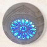 Vitral del azul de Sagrada Familia Posavasos Personalizados