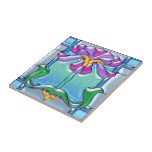 Vitral del iris de Nouveau del arte Tejas