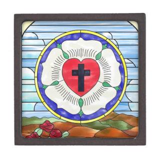 Vitral del sello de Luther Cajas De Regalo De Calidad