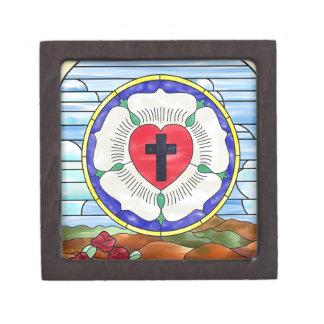 Vitral del sello de Luther Cajas De Joyas De Calidad