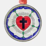 Vitral del sello de Luther Ornaments Para Arbol De Navidad