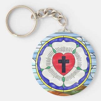 Vitral del sello de Luther Llavero Redondo Tipo Pin