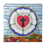 Vitral del sello de Luther Teja Cerámica
