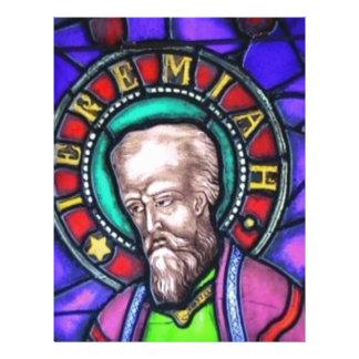 Vitral, el profeta Jeremiah Membrete A Diseño